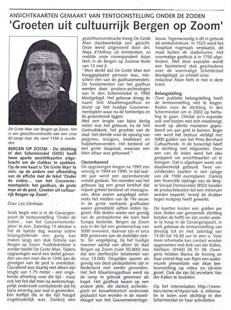 Bergen op Zoomse Bode 23-9-2001