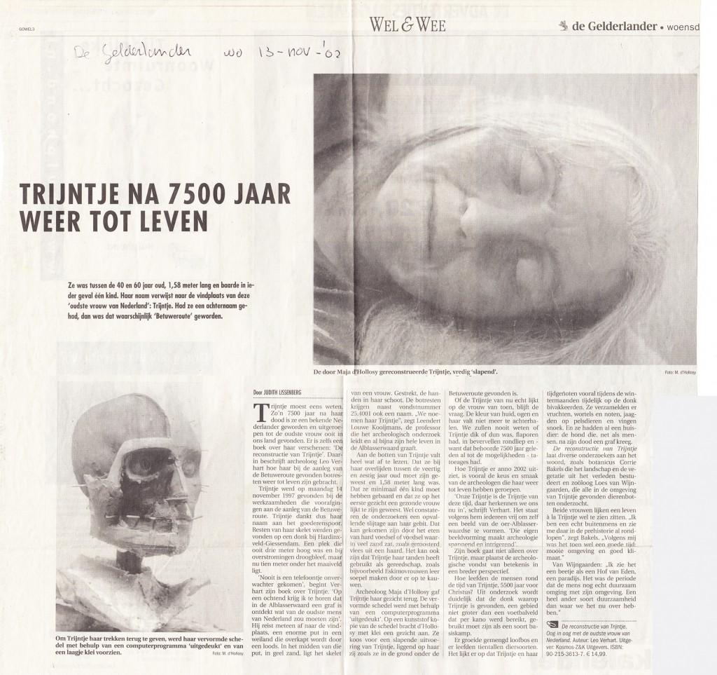 De Gelderlander, 13-11-2002