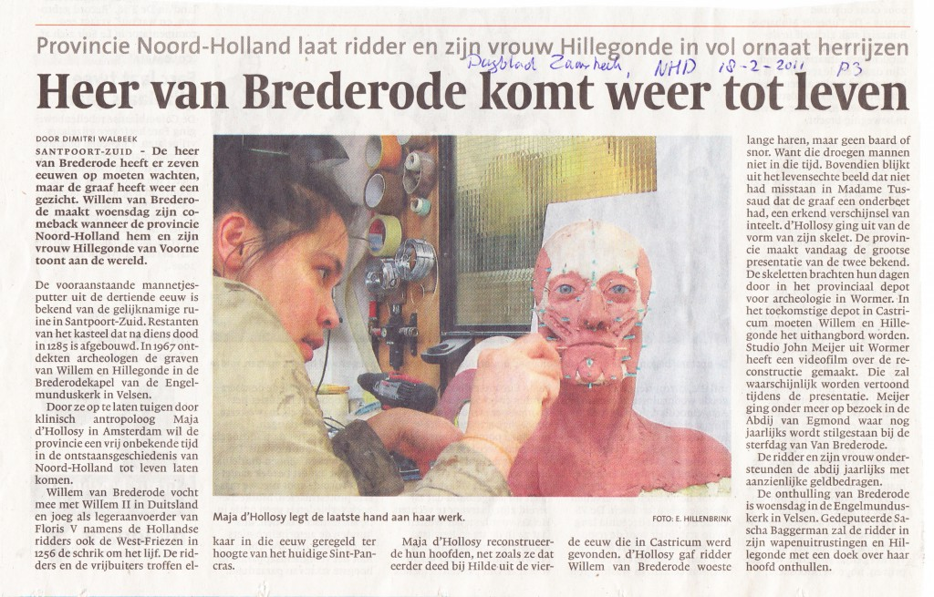Noord Hollands Dagblad, 18-2-2011