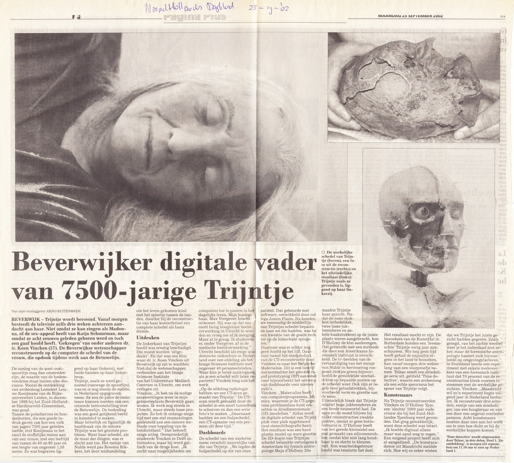 Noord Hollands Dagblad, 23-9-2002
