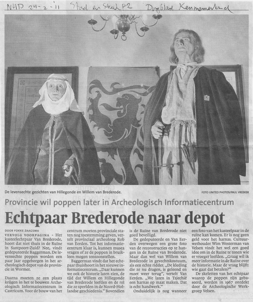 Noord Hollands Dagblad, 24-02-2011 Brederodes
