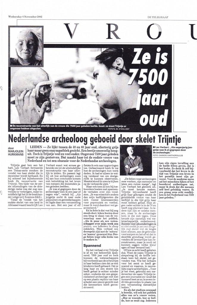 Telegraaf, 6 -11-2002