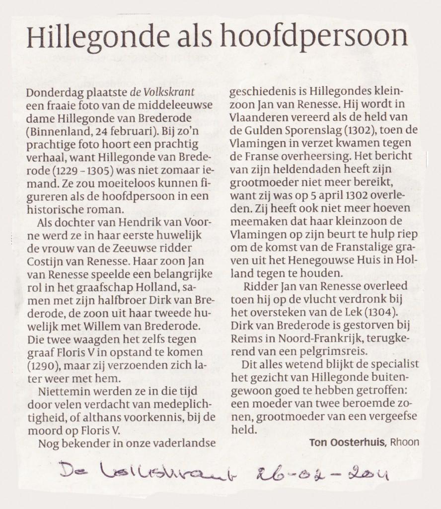 Volkskrant, 26-2-2011