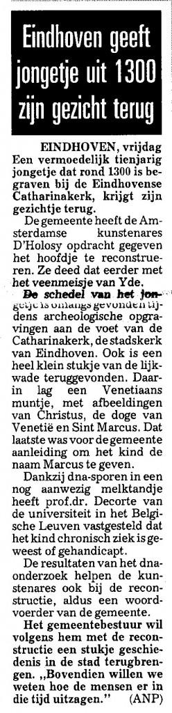 Telegraaf, 7 juni 2002