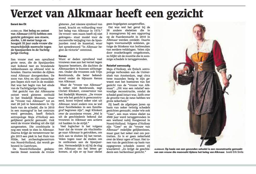 Reformatorisch Dagblad 12-07-2014