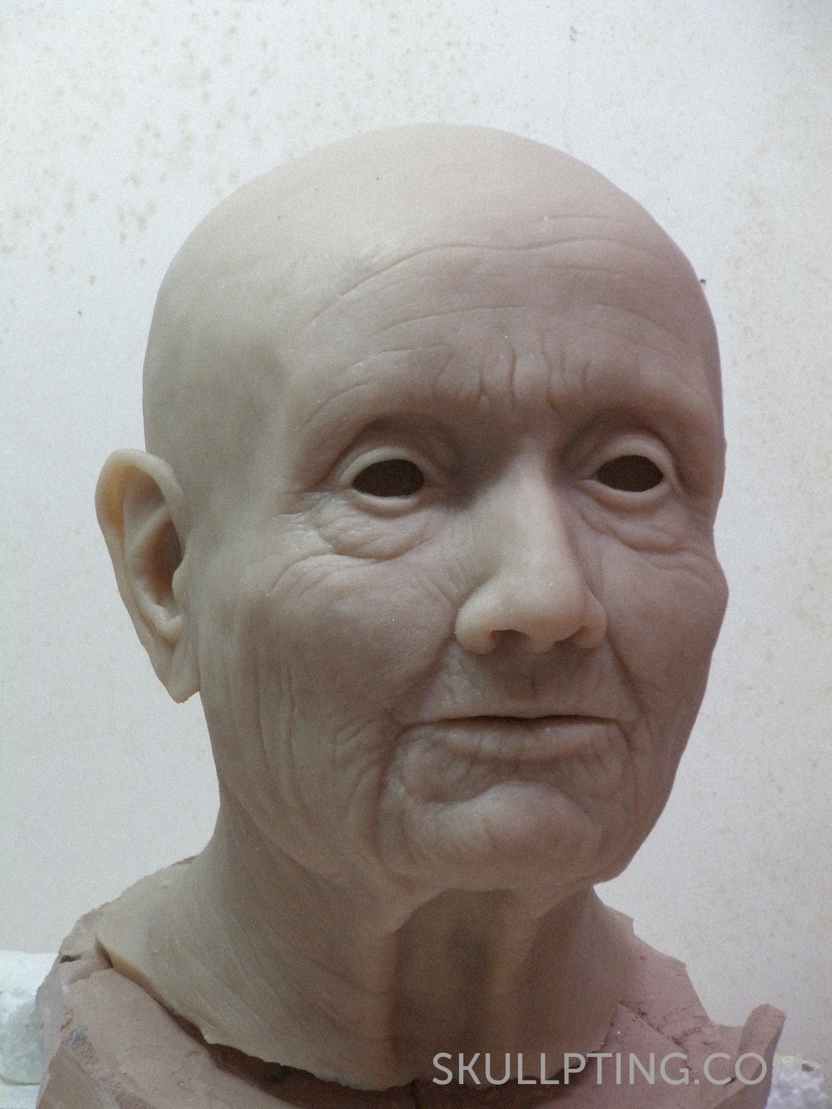 a copy of the sculpture cast in sillicone rubber