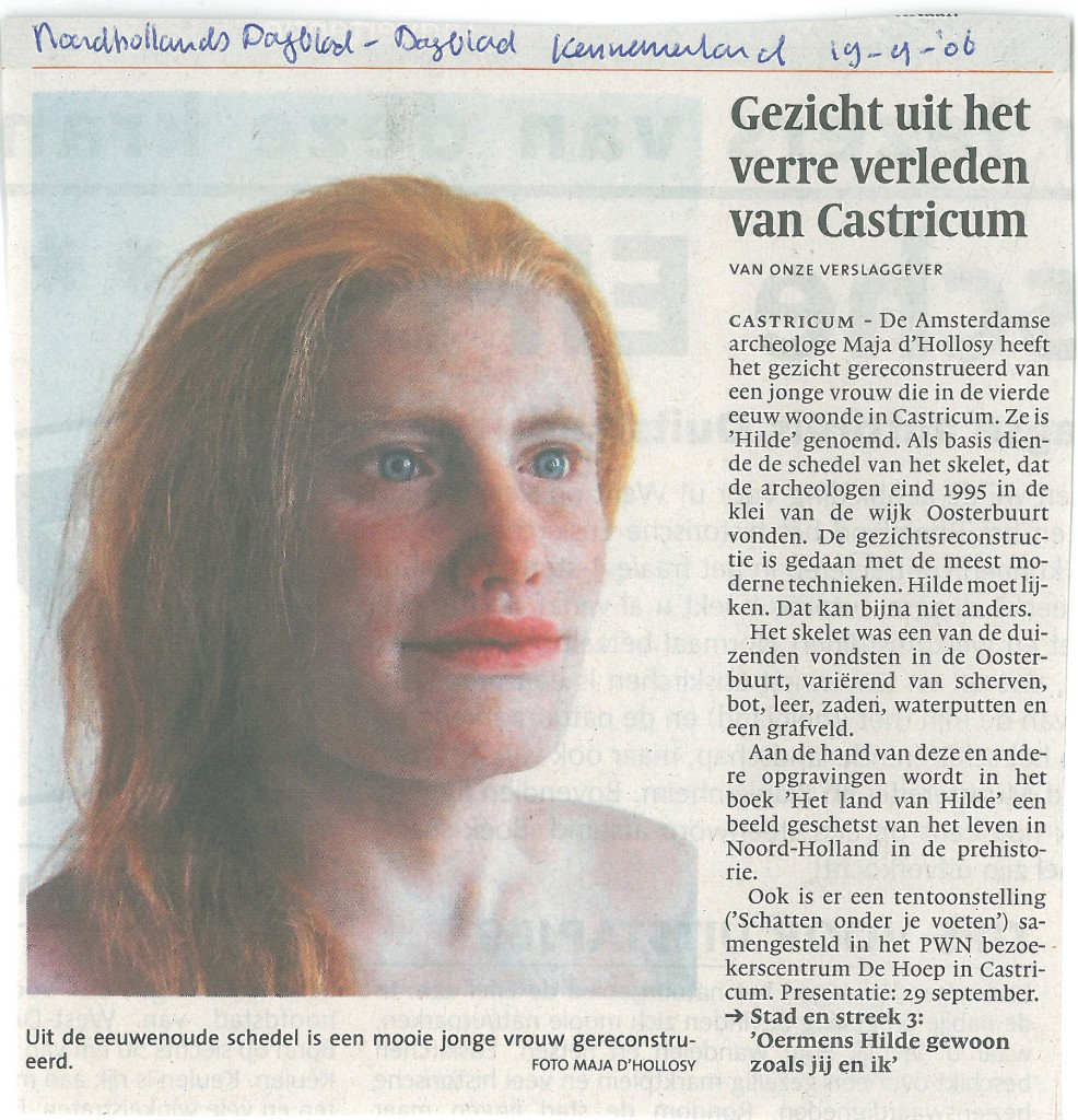 Noord Hollands dagblad, 19-09-2006 Hilde