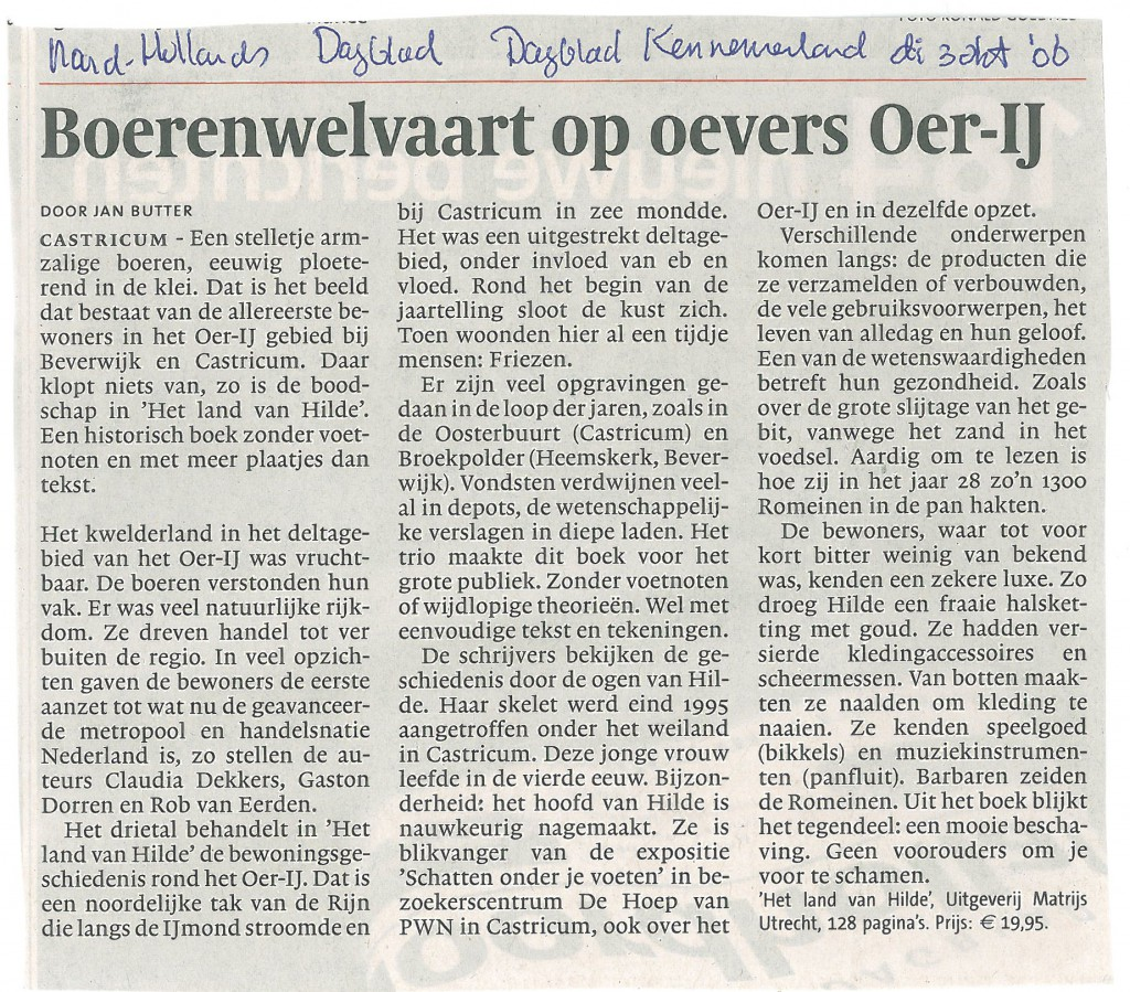 Noord Hollands Dagblad 03-10-2006 Hilde