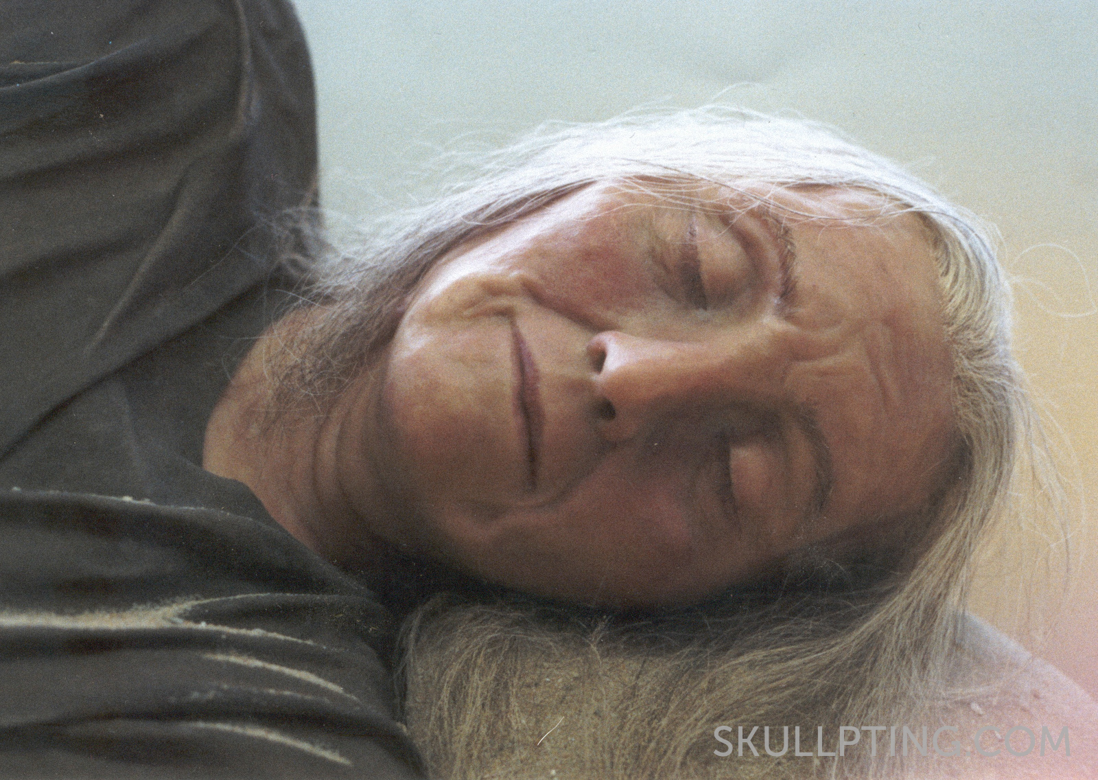 Reconstruction of Trijntje as she was laid out at her burial.