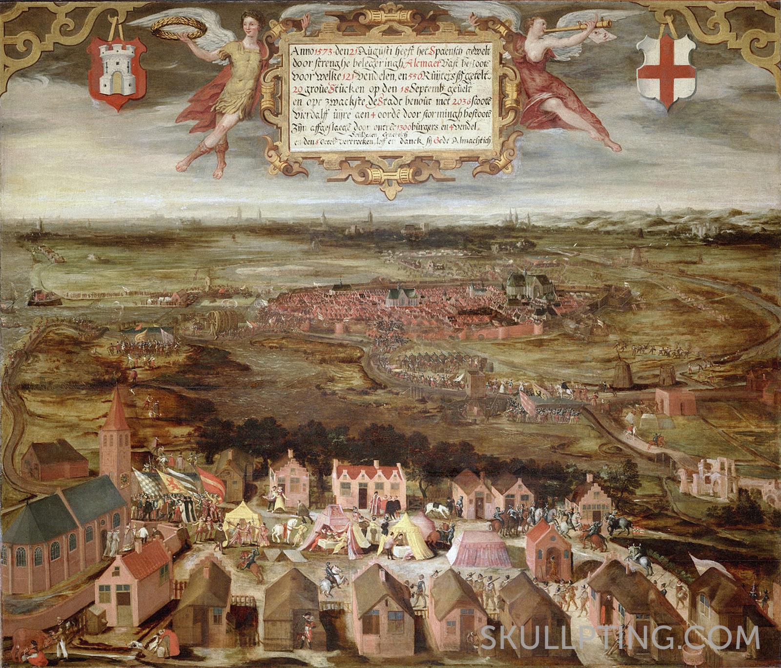 The siege of Alkmaar by the Spanish, unknown artist.